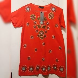 Embroidered Cotton Tunic - Various Sizes